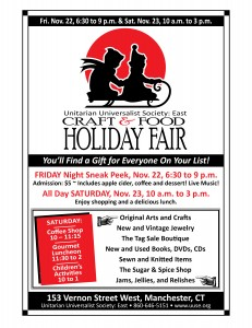 Unitarian Universalist Society: East  Craft and Food Holiday Fair