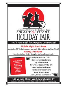 Unitarian Universalist Society: East Holiday Fair