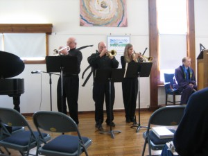Trumpeters bring music to the congregation