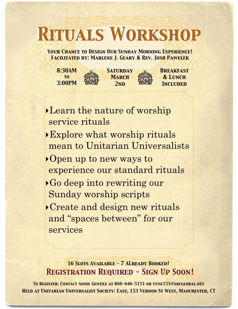 Rituals Workshop Flyer