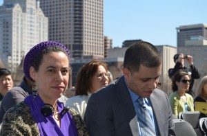 Rhona Cohen and Rev. Joel Cruz