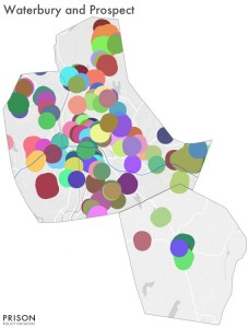 Druf Free Zones in Urban Waterbury, CT, compared to neighboring, suburban Prospect CT (source: Prison Policy Initiative)