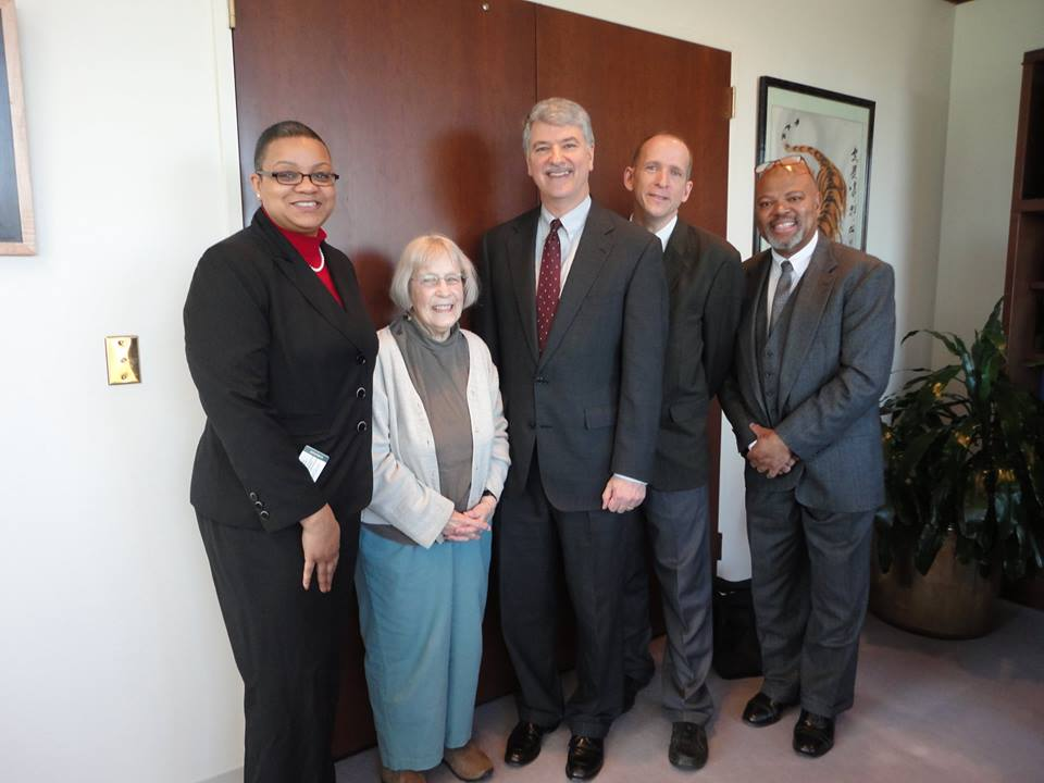 On 4-16, SJAR meber, Nancy Parker, along with Rev. Josh Pawelek, LaResse Harvery of A Better Way Foundation and Brian Albert of the New Britain NAACP met with Senate President Don Williams and urged him to bring SB 259 up for debate.