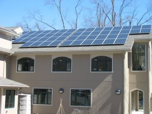 Solar panels on Unitarian-Universalist Society: East