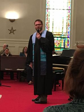Rev. Drew at the Bangor UU!