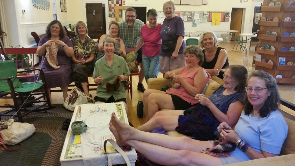 Unitarian Universalist Society of Bangor Shawl Ministry with Rev. Drew Moeller